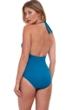 Gottex Classics Divine Embroidered Halter V-Neck One Piece Swimsuit