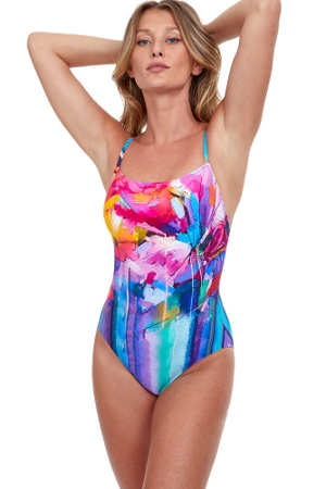 Gottex Classics Italian Summer Square Neck Underwire One Piece Swimsuit