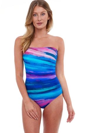 Gottex Essentials Midnight Light Bandeau One Piece Swimsuit