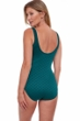 Gottex Essentials Sea Shells Textured Full Coverage V-Neck Surplice One Piece Swimsuit