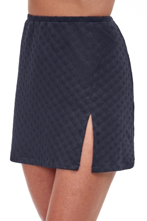 Gottex Essentials Sea Shells Textured Cover Up Mini Skirt with Slit