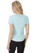 X by Gottex Light Aqua Round Mesh Short Sleeve Top