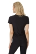 X by Gottex Black Round Mesh Short Sleeve Top