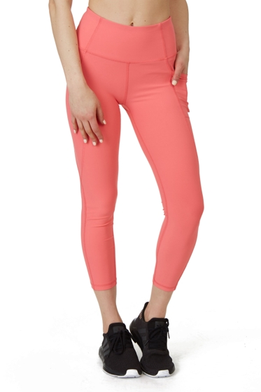 X by Gottex Coral Pink Kelly Ankle Legging with Pockets