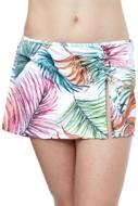 Profile by Gottex Tropico White Side Slit Cinch Swim Skirt