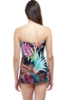 Profile by Gottex Tropico Pleated Bandeau Strapless Swimdress