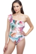 Profile by Gottex Tropico Ruffle One Shoulder One Piece Swimsuit