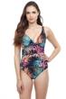 Profile by Gottex Tropico Underwire V-Neck One Piece Swimsuit
