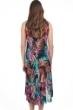 Profile by Gottex Tropico Black Round Neck High Low Mesh Dress
