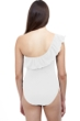 Profile by Gottex Pleat It White Ruffle One Shoulder One Piece Swimsuit