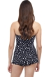 Profile by Gottex Dotty Black and White Bandeau Strapless Swimdress