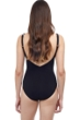 Profile by Gottex Dotty Black and White Underwire V-Neck One Piece Swimsuit