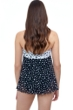 Profile by Gottex Dotty Black and White Bandeau Strapless Flyaway One Piece Swimsuit