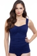 Profile by Gottex Afternoon Tea Navy Textured Underwire D-E Cup Tankini Top