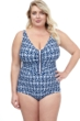 Profile by Gottex Nomad V-Neck One Piece Swimsuit