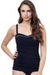 Profile by Gottex Belle Curve Black and White Underwire D-E Cup Tankini Top