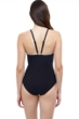 Profile by Gottex Belle Curve Black and White High Neck One Piece Swimsuit