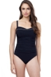 Profile by Gottex Belle Curve Black and White Underwire D-Cup Wide Strap One Piece Swimsuit