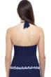 Profile by Gottex Snake Charm Navy Halter Tankini Top