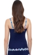 Profile by Gottex Snake Charm Navy D-G Cup Underwire Tankini Top