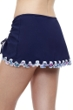 Profile by Gottex Snake Charm Navy Side Slit Swim Skirt