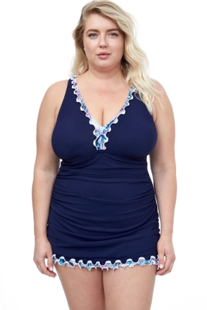 Profile by Gottex Snake Charm Plus Size V-Neck Swimdress