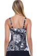 Profile by Gottex Marbella Black and White Underwire D-E Cup Tankini Top