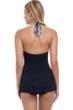 Profile by Gottex Marbella Black and White Underwire Halter Swimdress