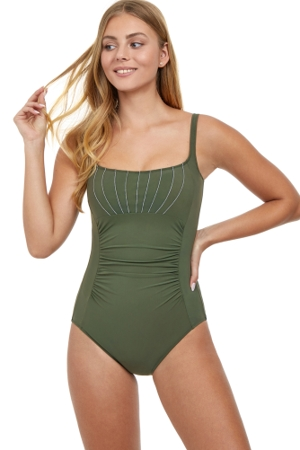 Profile by Gottex Tailor Made Cup Sized Shirred One Piece Swimsuit