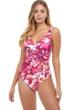 Profile by Gottex Escape In Bali Surplice One Piece Swimsuit