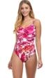 Profile by Gottex Escape In Bali V-Neck One Piece Swimsuit