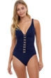 Profile by Gottex Cannes V-Neck One Piece Swimsuit