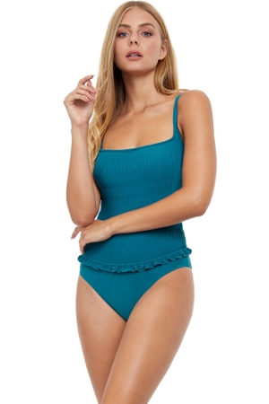 Profile by Gottex Cote D'Azur Cup Sized Scoop Neck Underwire One Piece Swimsuit