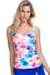Profile by Gottex Splash D-Cup Scoop Neck Underwire Tankini Top