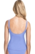 Profile by Gottex Date Night Lavender Scoop Neck Shirred Tankini Top