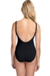 Profile by Gottex Date Night Black Side Shirred One Piece Swimsuit