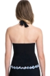 Profile by Gottex Pinwheel Black V-Neck Halter Tankini Top
