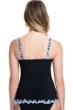 Profile by Gottex Pinwheel Black D-Cup Scoop Neck Shirred Underwire Tankini Top