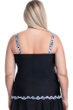 Profile by Gottex Pinwheel Black Plus Size Shirred Underwire Tankini Top