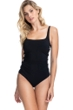 Profile by Gottex Moto Lace Up Side Shirred One Piece Swimsuit