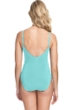 Profile by Gottex Moto Sea Foam Lace Up Side Shirred One Piece Swimsuit
