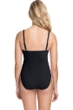 Profile by Gottex Moto Black and White C-Cup Lace Up Scoop Neck One Piece Swimsuit