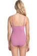 Profile by Gottex Moto Dusk Rose C-Cup Lace Up Scoop Neck One Piece Swimsuit