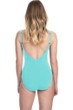 Profile by Gottex Moto Sea Foam D-Cup Lace Up V-Neck Plunge Shirred One Piece Swimsuit