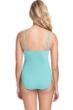 Profile by Gottex Moto Sea Foam D-Cup Lace Up Scoop Neck One Piece Swimsuit