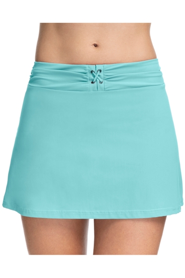 Profile by Gottex Moto Sea Foam Lace Up Cover Up Skirt