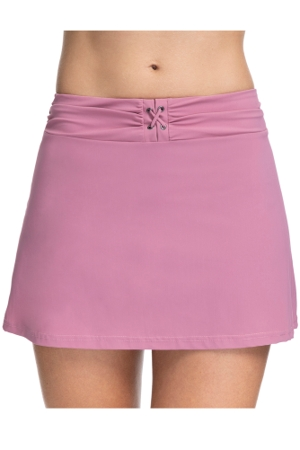 Profile by Gottex Moto Dusk Rose Lace Up Cover Up Skirt