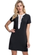 Profile by Gottex Moto Black and White Lace Up Shirt Cover Up Dress