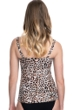 Profile by Gottex Wild Thing Leopard D-Cup Scoop Neck Shirred Underwire Tankini Top