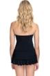 Profile by Gottex Bel Aire Black Bandeau Swimdress